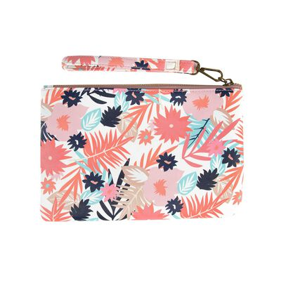Ayla Vegan Leather Floral Pouch