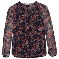 Isabel Blouse  -  navy-burgundy