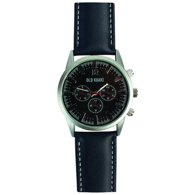 Chad Large Round Aviator Watch