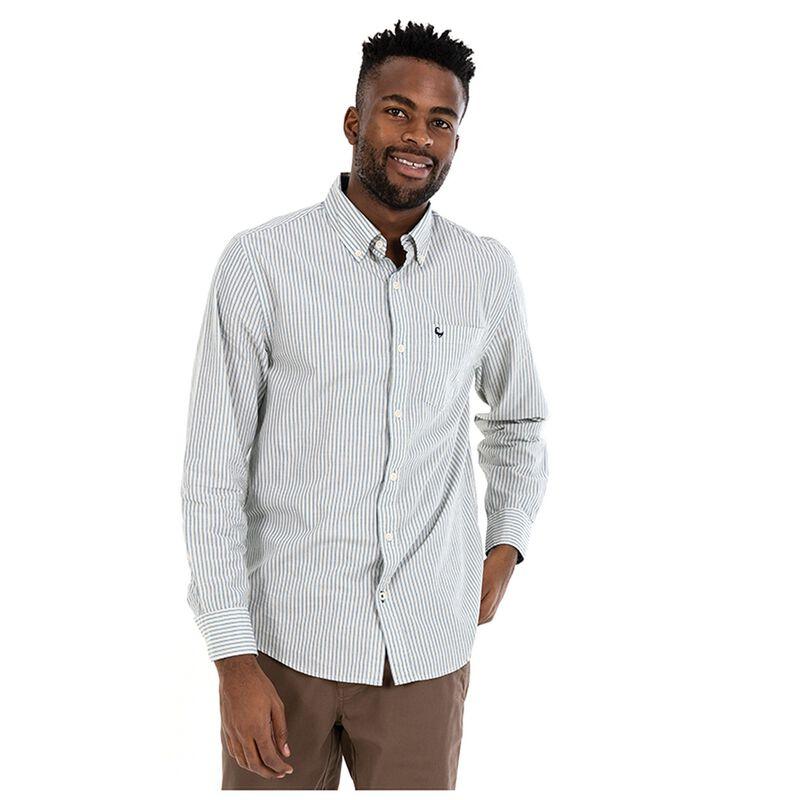 Wells Men's Regular Fit Shirt -  mustard-navy