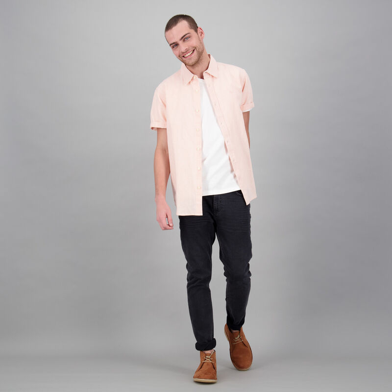 Men's Zac Regular Fit Linen Shirt -  dc4500