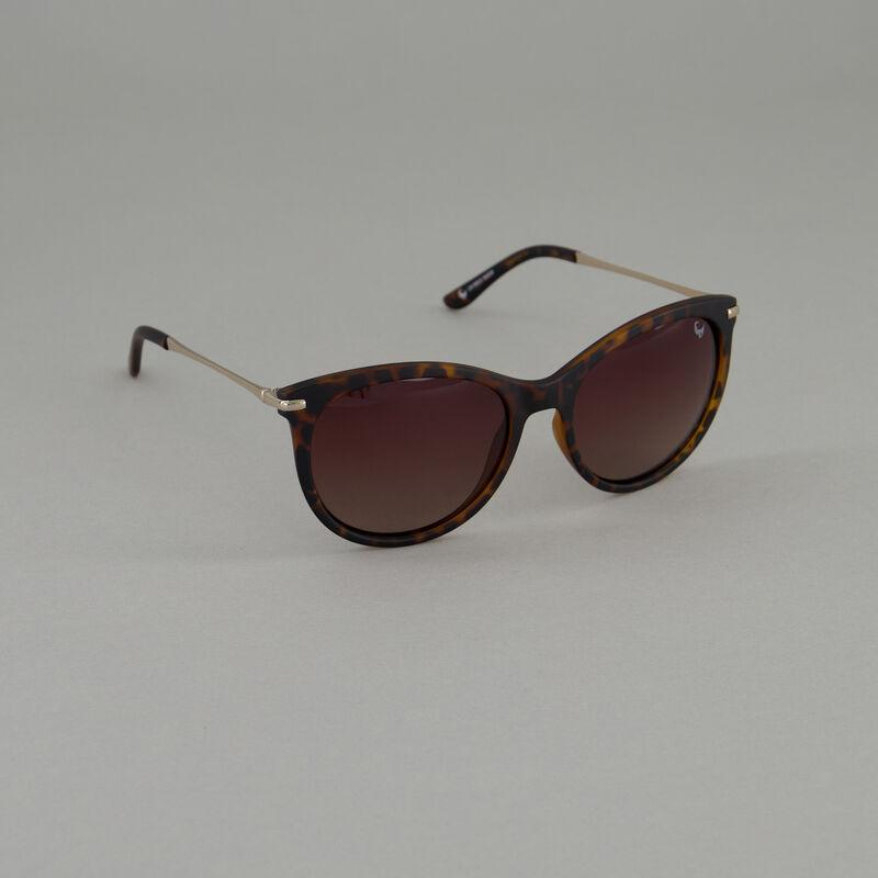 Old Khaki Ladies Polarised Rounded Classic Sunglasses  -  brown-gold
