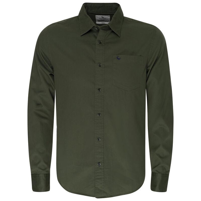 Milano Slim Fit Shirt  -  olive