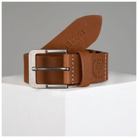 Eli Branded Belt -  tan