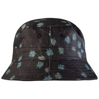 Ernest Reversible Tropical Bucket Hat -  black-green