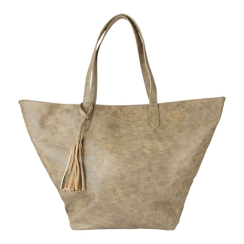 Bluebell PU Oversized Tote -  olive