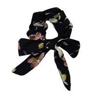 Floral & Dot 2-Pack Scrunchie Hair Ties -  brown-navy