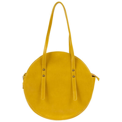 Charlotte Vegan Leather Round Bag