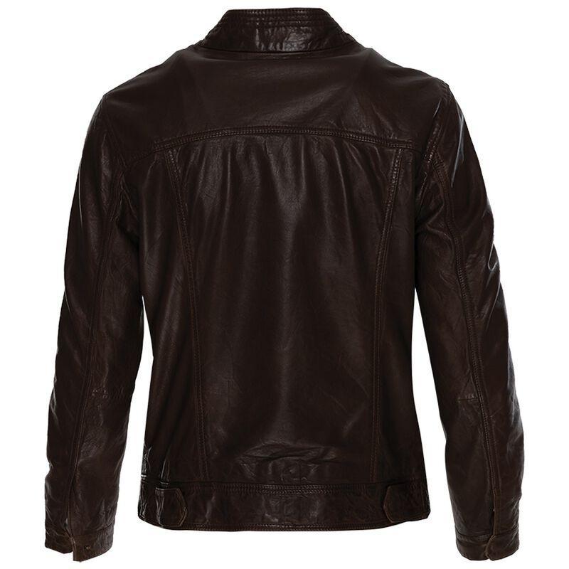 Greer Leather Jacket -  chocolate