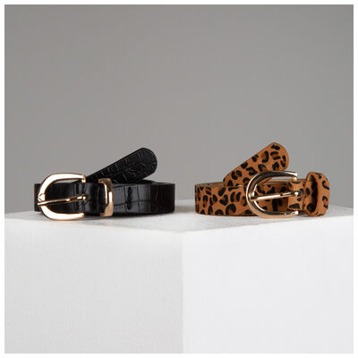 Miya Twin-Pack Vegan Leather Belts