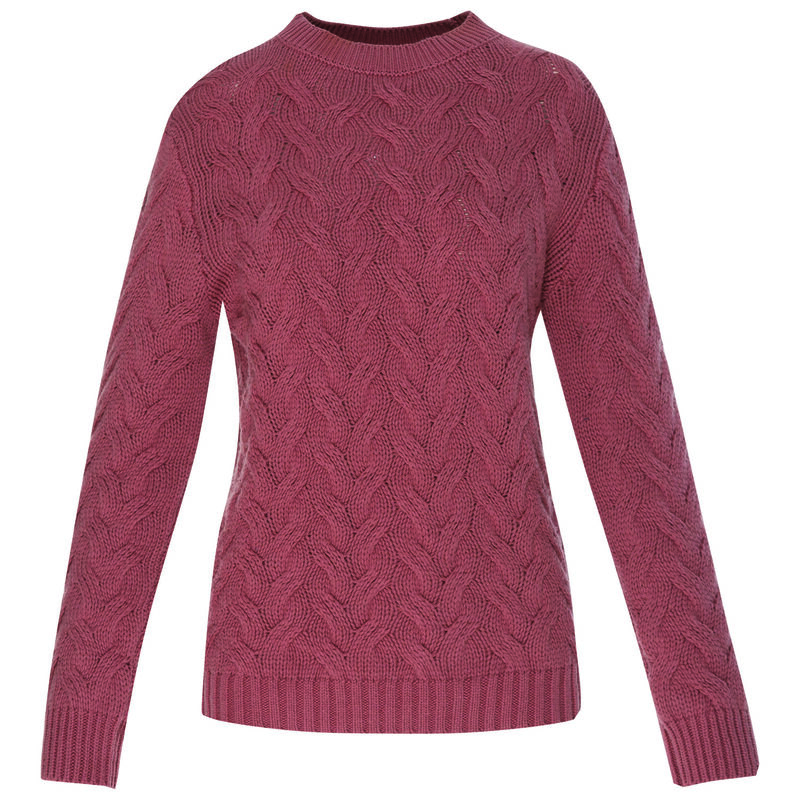 Kristen Women's Cable Pullover  -  pink