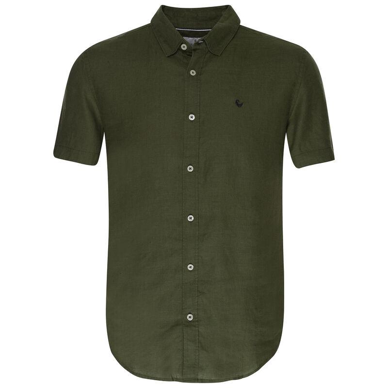 Laz Linen Slim Fit Shirt -  olive