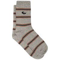 Men's Rhett Retro Striped Sock -  grey-brown