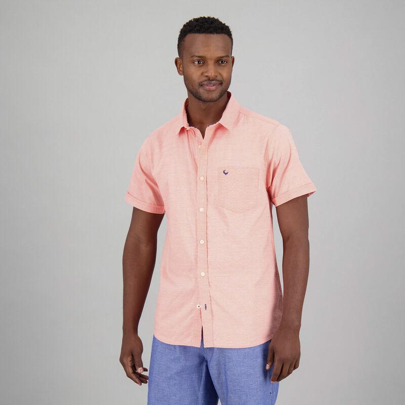 Men's Fillipo Slim Fit Shirt -  coral