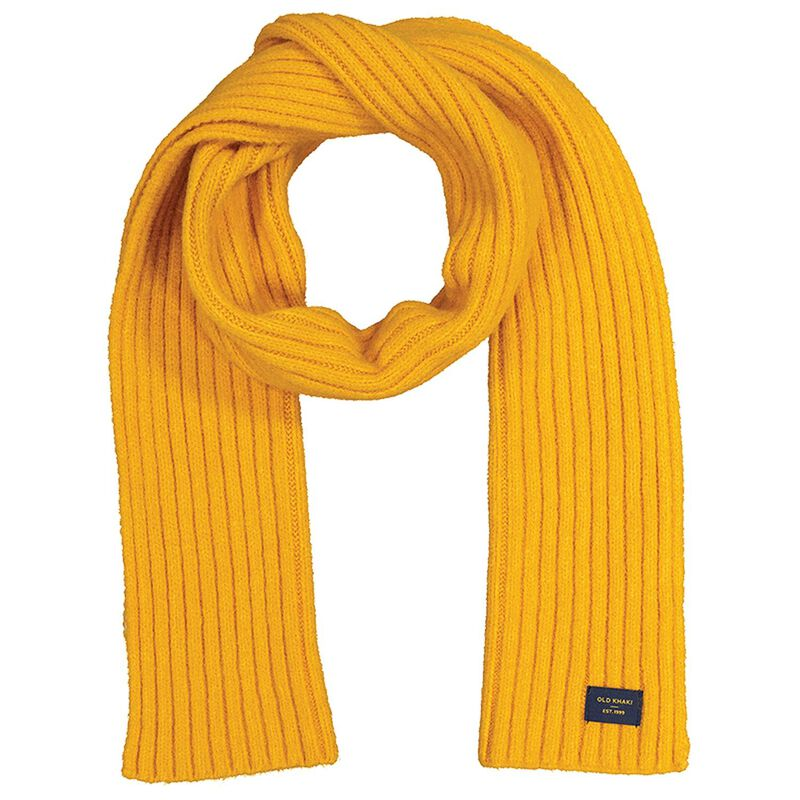 Allan Men's Rib Knit Scarf -  yellow