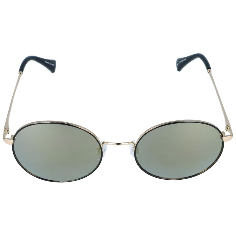 Old Khaki Classic Rounded Metal Sunglasses -  black-gold