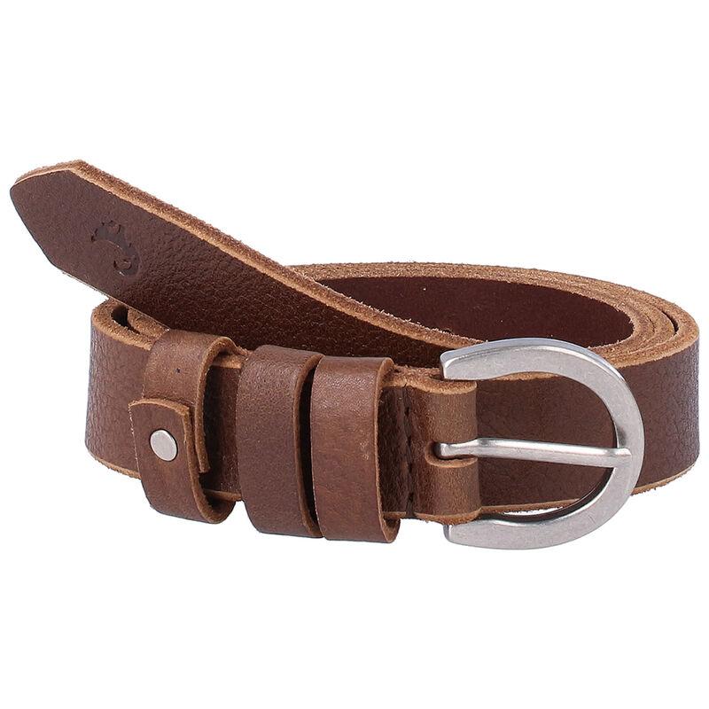 Maia Loop Trim Leather Belt -  brown-brown