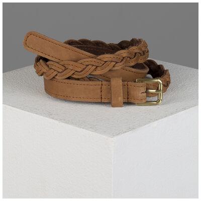 Old Khaki Ashlyn Skinny Plaited Belt