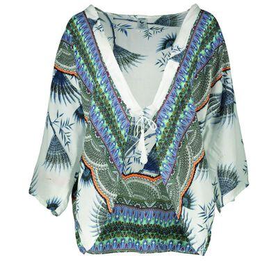 Zenith Fan Print Kimono