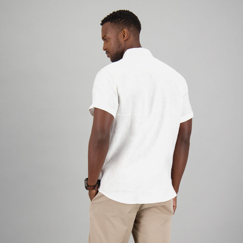 Men's Laz Linen Slim Fit Shirt -  white