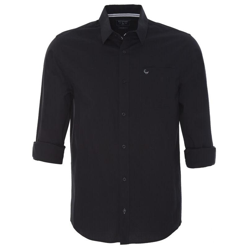Andy Men's Regular Fit Shirt -  black