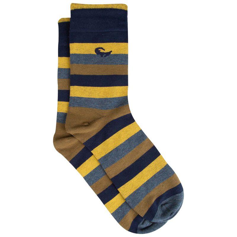 Men's Marconi Multistripe Groat Sock -  yellow-blue