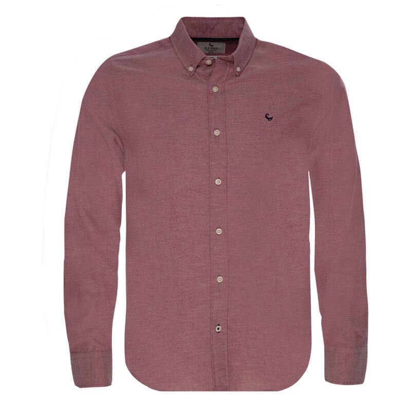 Watts Slim Fit Shirt  -  burgundy