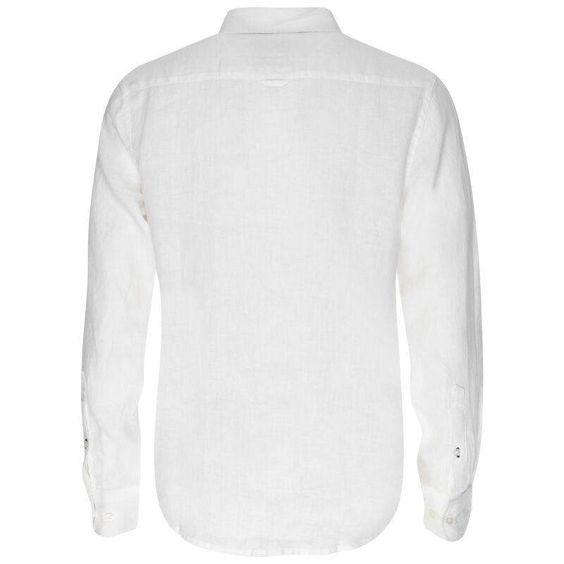 Dustin Linen Slim Fit Shirt -  white