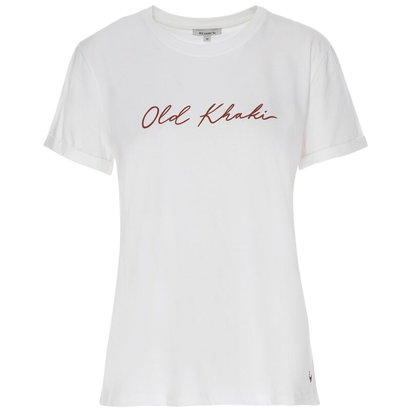 Pascale Call-Out Tee -  white-red