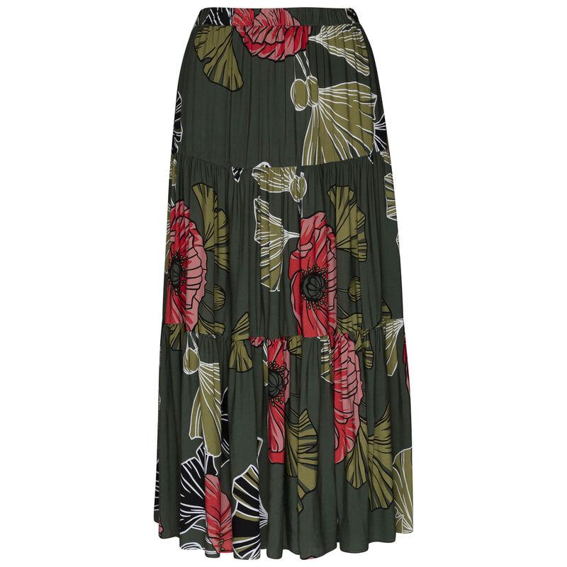 Alisha Tiered Skirt -  lightolive