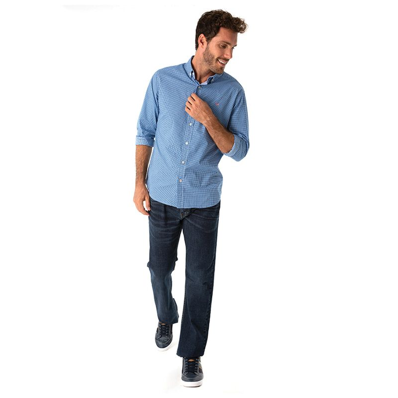 Tim Men's Slim Fit Shirt  -  blue