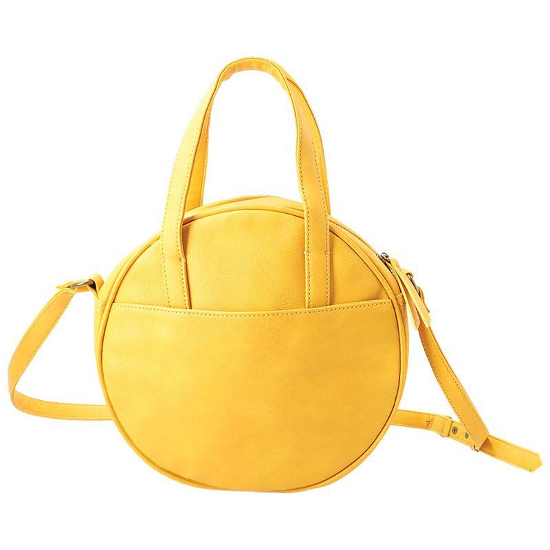 Carla Vegan Leather Saddle Bag -  yellow