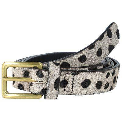 Demona Animal Print Skinny Belt