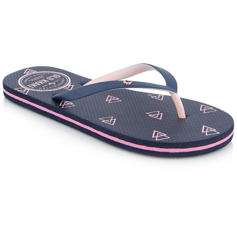 Old Khaki Women's Tide Flip Flops -  navy-flamingo