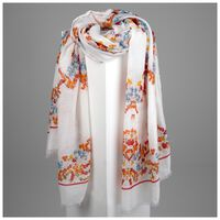 Estella Floral Scarf -  milk-assorted