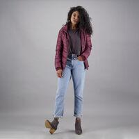 Roxanne Puffer Jacket -  burgundy