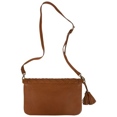 Emma Suede Plaited Cross Body Bag