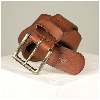 Adam Men's Stitch Detail Leather Belt