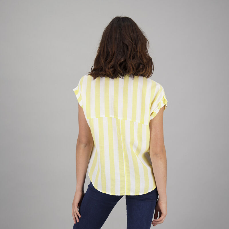 Women's Daisey Shirt -  white-yellow
