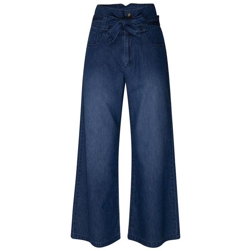 Gillian Wide-Leg Denim -  indigo