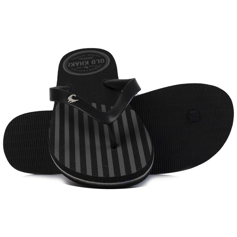 Men's Old Khaki Pacifico Flip Flops -  black-silvergrey