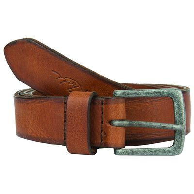 Old Khaki Women's Kodiak Worn Leather Basic Belt