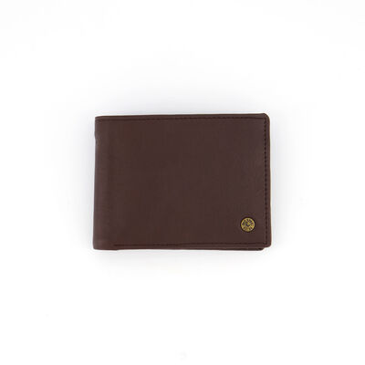 Dale Fold-Over Raw Leather Wallet