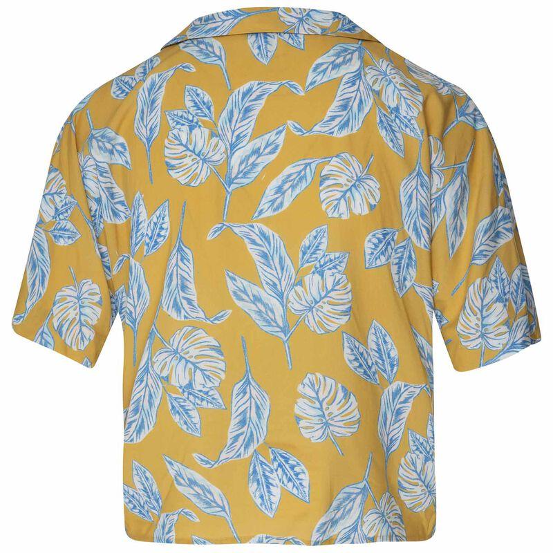 Women's Kiki Front-Tie Shirt -  yellow