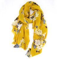 Women's Jemma Floral Square Scarf -  yellow-blue