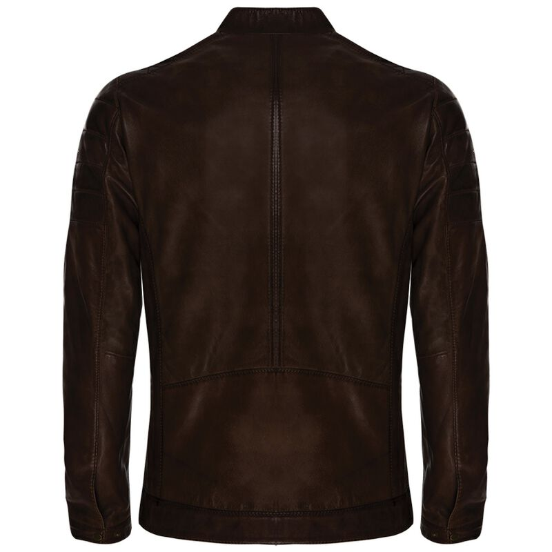 Old Khaki Men's Cam Leather Jacket -  brown