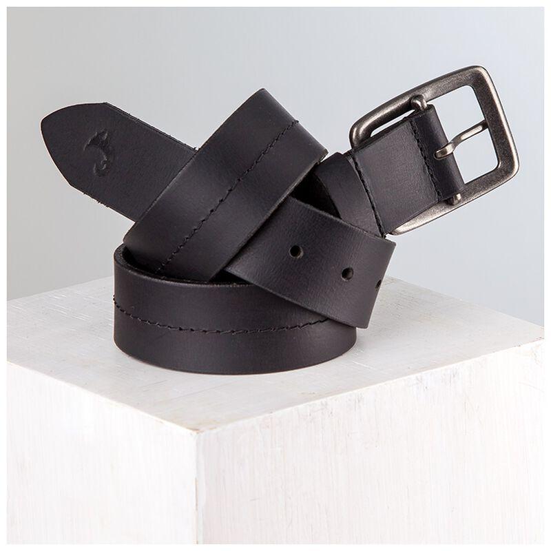 Wallace Leather Single Stitch Basic Belt -  black