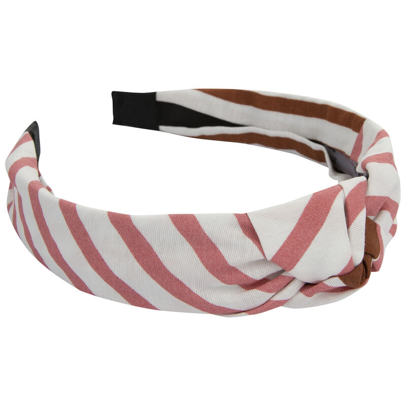 Daley Retro Stripe Alice Band -  pink-milk