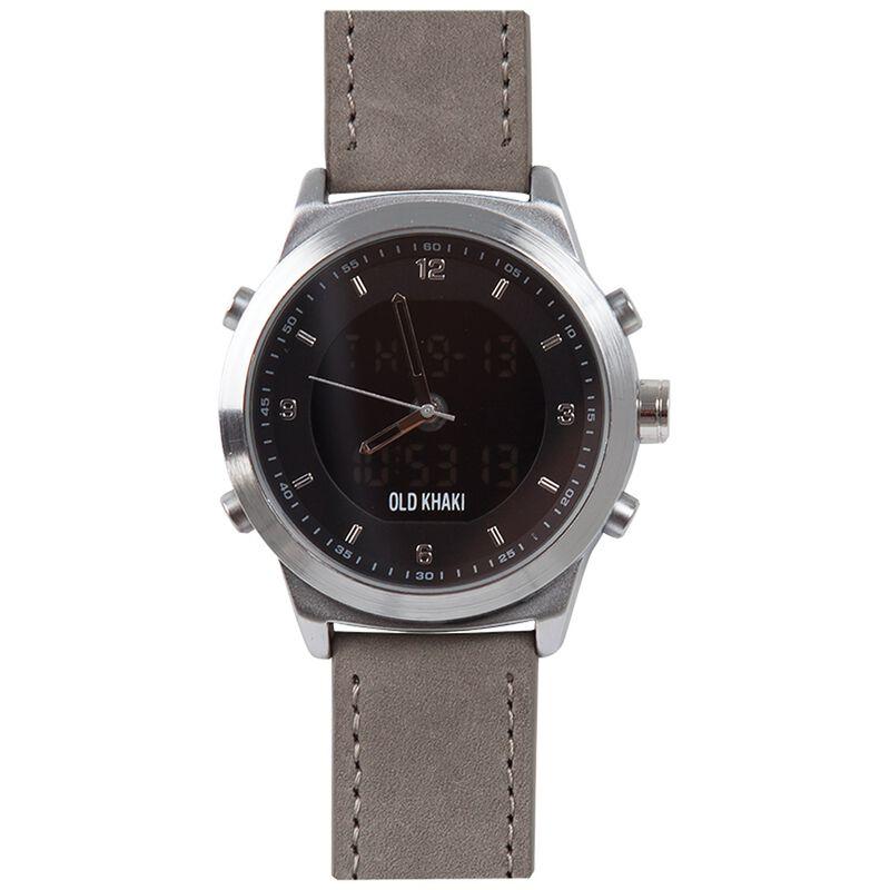 David Large Round Ana-Digital Watch -  grey-silver
