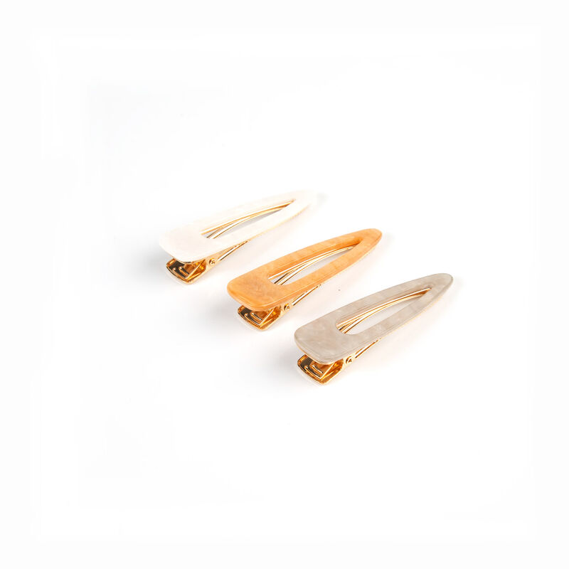 Rossa 3-Pack Resin Hair Clips -  assorted-gold